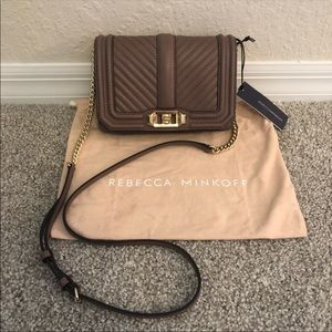 NWT Rebecca Minkoff Small Love Quilted Crossbody